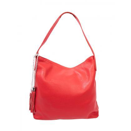 Bags and more Morella Piros Női Bőr Válltáska