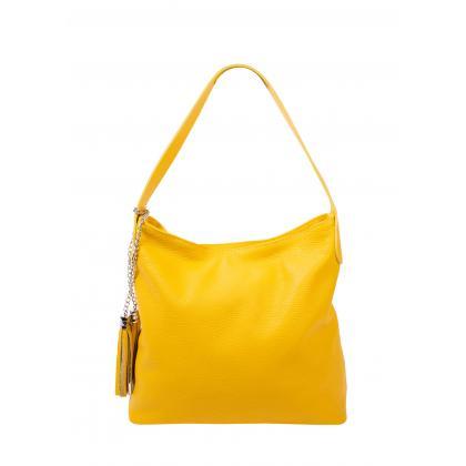 Bags and more Morella Sárga Női Bőr Válltáska