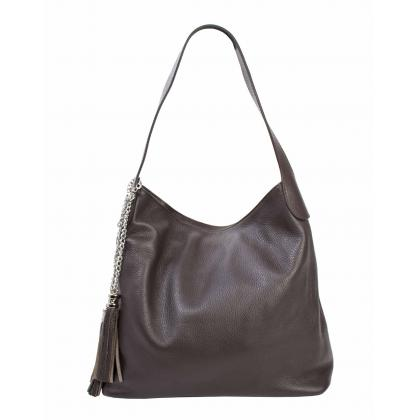 Bags and more Morella Sötétbarna Női Bőr Válltáska