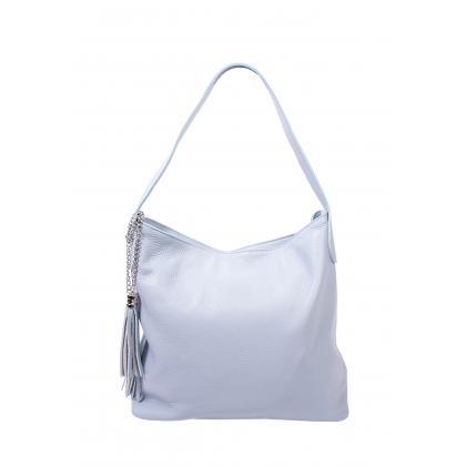 Bags and more Morella Világos kék Női Bőr Válltáska