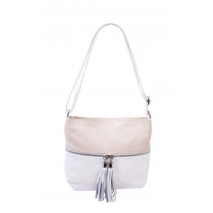 Bags and more Myra Fehér-Bézs Női Bőr Oldaltáska
