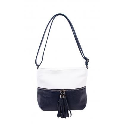 Bags and more Myra Fehér-Kék Női Bőr Oldaltáska