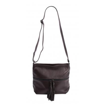 Bags and more Myra Sötét barna Női Bőr Oldaltáska
