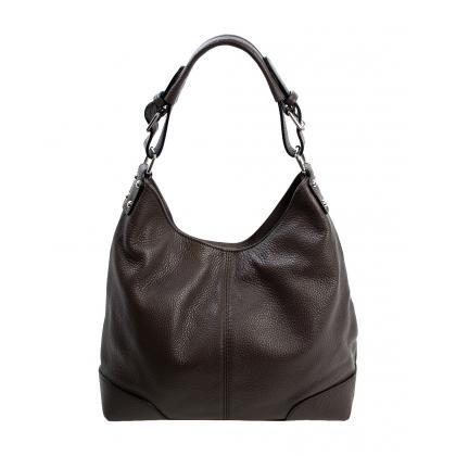 Bags and more Natale Sötét barna Női Bőr Válltáska