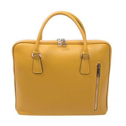 Bags and more Nia Ősz sárga Női Bőr Laptoptáska