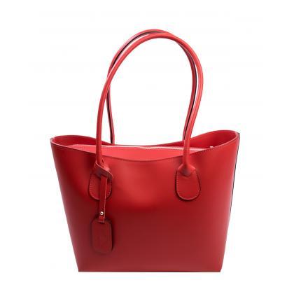 Bags and more Odett Piros Női Bőr Válltáska