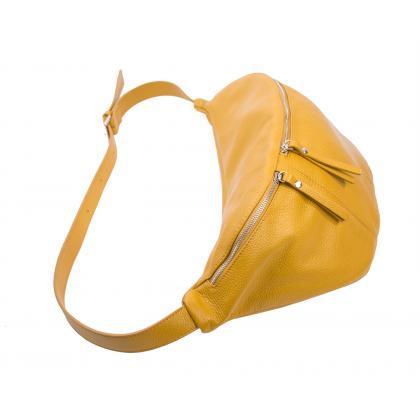 Bags and more Ornella Ősz sárga Női Bőr Válltáska