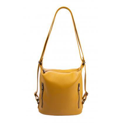 Bags and more Palmira Ősz sárga Női Bőr Válltáska és Hátizsák
