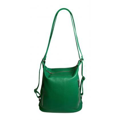 Bags and more Palmira Zöld Női Bőr Válltáska és Hátizsák