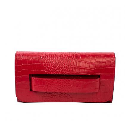 Bags and more Polly Piros Női Bőr Alkalmi Táska