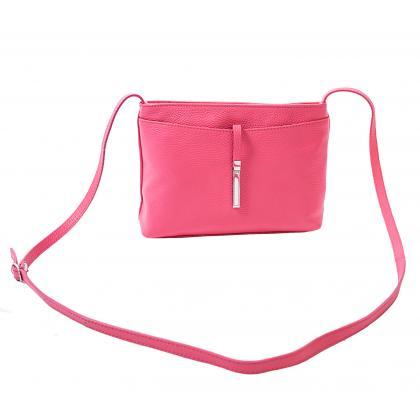 Bags and more Rita Pink Női Bőr Oldaltáska