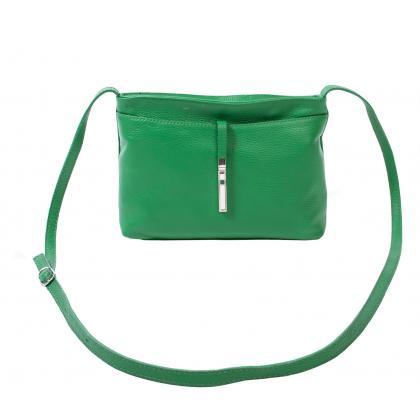 Bags and more Rita Zöld Női Bőr Oldaltáska