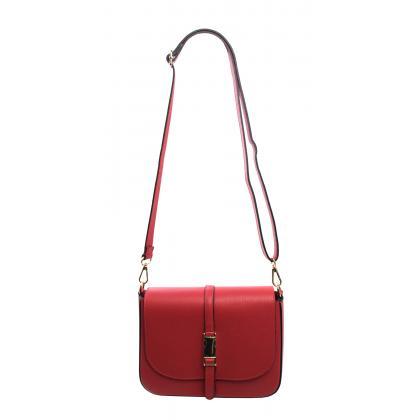 Bags and more Sandy Piros Női Bőr Oldaltáska