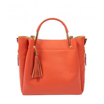 Bags and more Tulipy Narancssárga Női Bőr Kézitáska