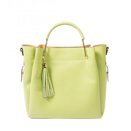 Bags and more Tulipy Zöld Női Bőr Kézitáska
