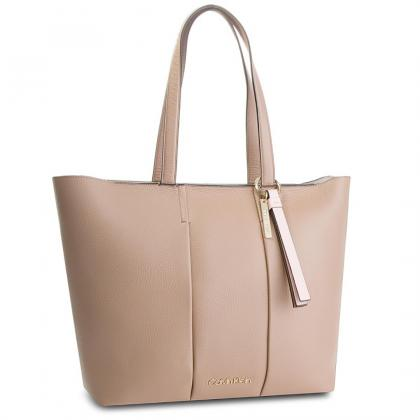 Calvin Klein City Leather Shopper Homok Női Divattáska