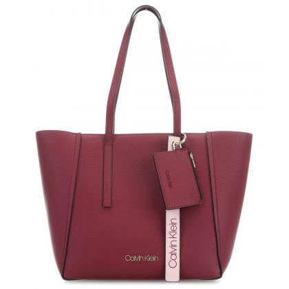 Calvin Klein CK Base Large Shopper Bordó Női Divattáska