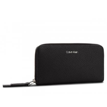 Calvin Klein CK Base Large Zip Around XL Fekete Női Pénztárca