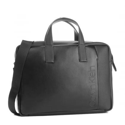 Calvin Klein Elevanted Logo Slim Laptop Bag Fekete Férfi Laptoptáska