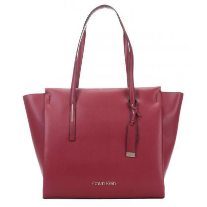 Calvin Klein Frame Large Shopper Bordó Női Divattáska