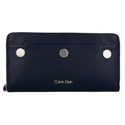 Calvin Klein Le4 Large Ziparound Sötét kék Női Pénztárca