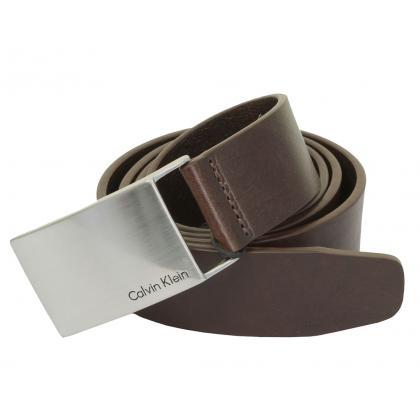 Calvin Klein Mino Plaque 105 cm Sötét barna Férfi Öv