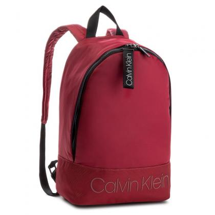 Calvin Klein Shadow Round Backpack Bordó Férfi Hátizsák