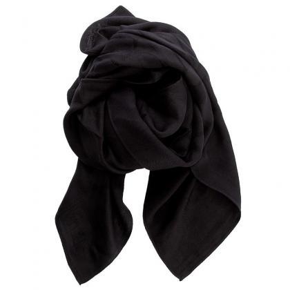 Calvin Klein Tin4 Jaquard Scarf Fekete Női Kendő-Sál
