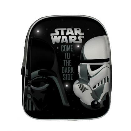 Disney Star Wars hang & fényjelzős  Fekete-Szürke Gyerek Hátizsák
