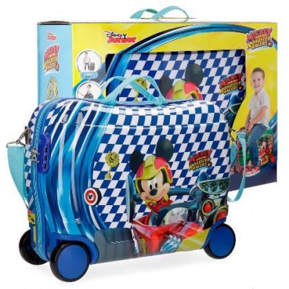 Disney ABS 4 kerekes Mickey Kék Gyerek Kabinbőrönd