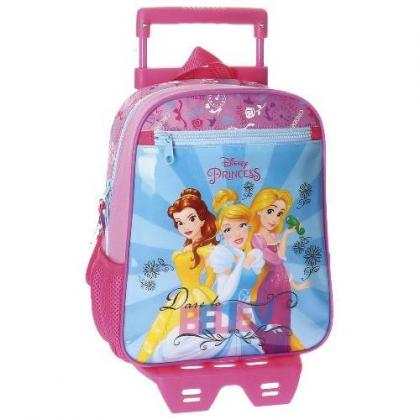Disney Princess Rainbow Rózsaszín Gyerek Kerekes hátizsák
