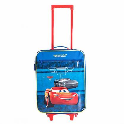 Disney RACING SERIES Kék Gyerek Kabinbőrönd