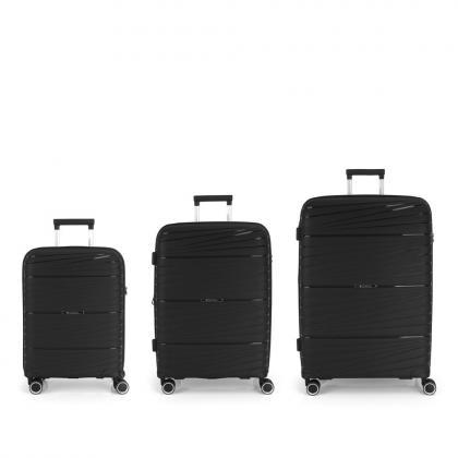 Gabol Kiba 4 Kerekes Fekete Bőrönd Szett