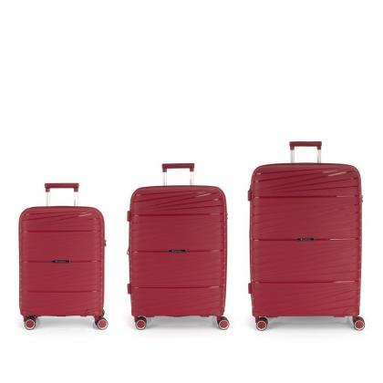 Gabol Kiba 4 Kerekes Piros Bőrönd Szett