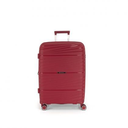 Gabol Kiba 4 Kerekes Piros Közepes Bővíthető Bőrönd