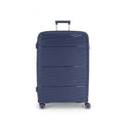Gabol Kiba 4 Kerekes Sötétkék Bővíthető Nagy Bőrönd