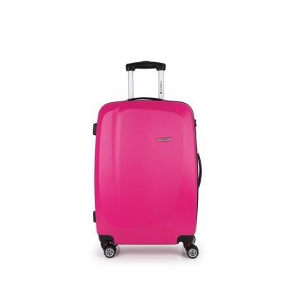 Gabol Line 68 cm Rózsaszín 4 kerekes Bőrönd