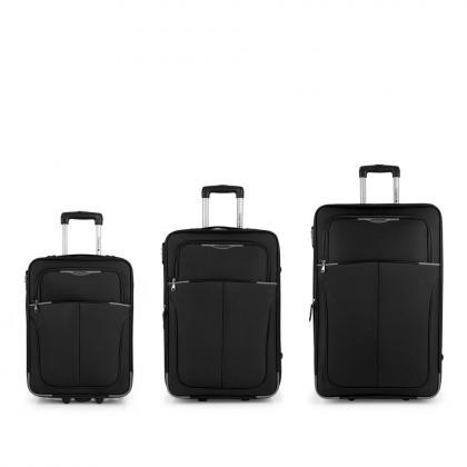 Gabol Malasia Fekete Bőrönd Szett
