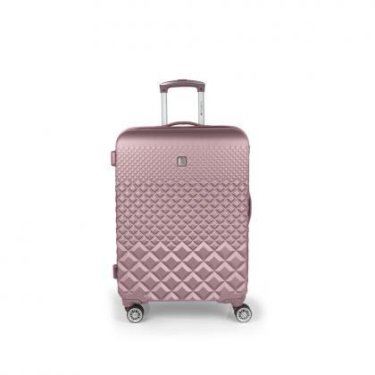 Gabol Oporto M Rózsaszín Keményfedeles bőrönd