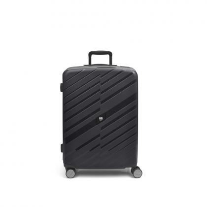 Gabol Sendai 4 Kerekes Fekete Közepes Bőrönd