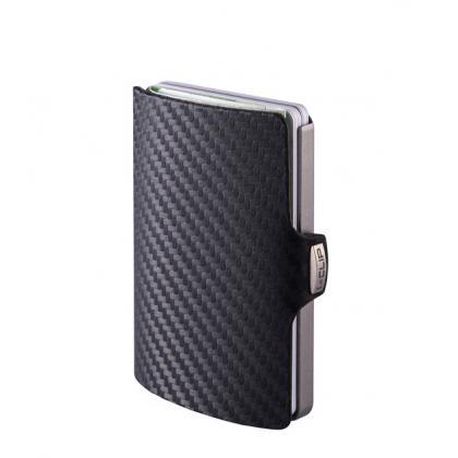 I-clip Carbon Fekete Kártyatartó