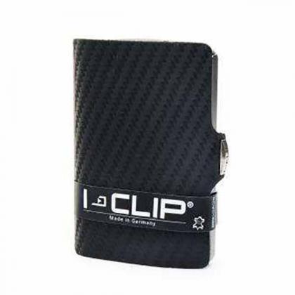I-clip Carbon Fekete Unisex Kártyatartó