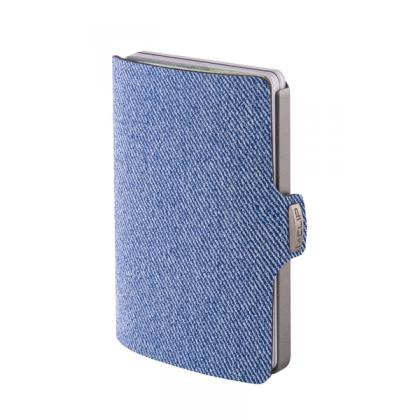 I-clip Jeans look Farmer kék Kártyatartó