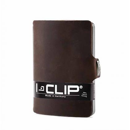 I-clip Soft Touch Barna Unisex Kártyatartó