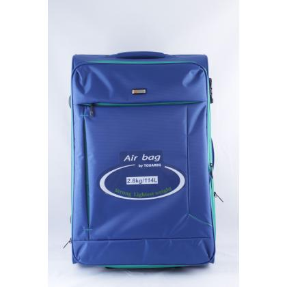 Touareg 6287 L zöld 70x44x28 Kék Unisex Puhafedeles bőrönd