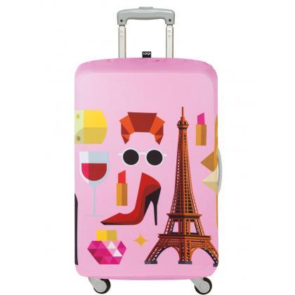 Loqi Paris  Rózsaszín Női Bőröndhuzat