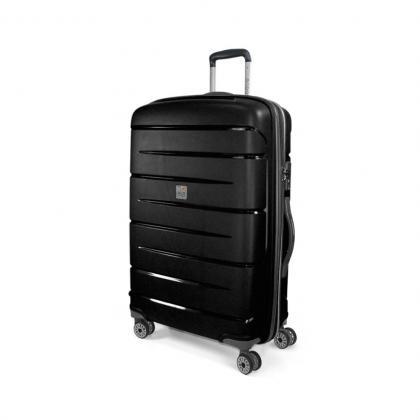 MODO Roncato Starlight L Fekete Keményfedeles bőrönd
