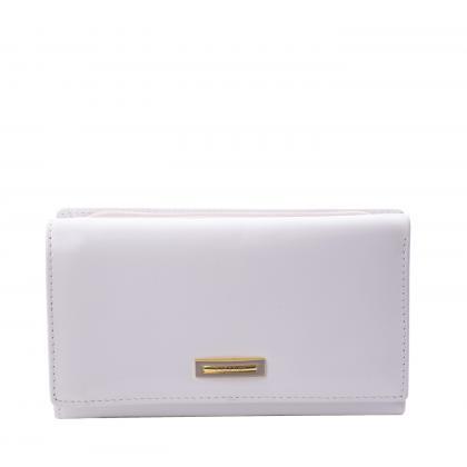 Prestige Prf55020-1 Zippes Fehér Női Bőr Pénztárca
