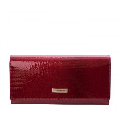 Prestige Prl72015 Zippes Piros Női Lakk Bőr Pénztárca
