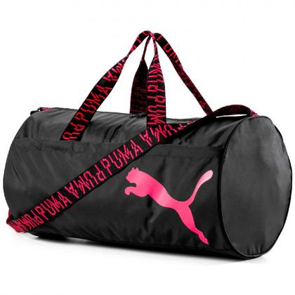 Puma AT ESS Barrel Fekete - Pink Sport és utazótáska